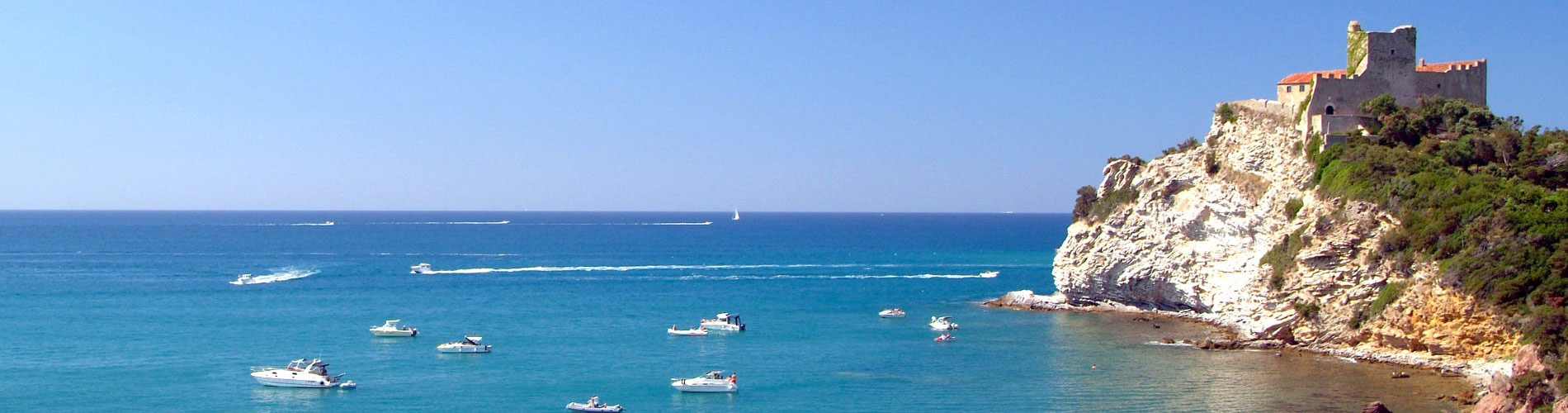 Foto panoramica mare della Maremma