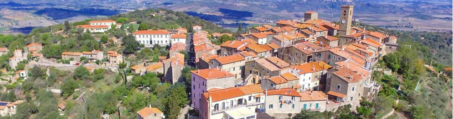 Foto panoramica dall'alto di Vetulonia